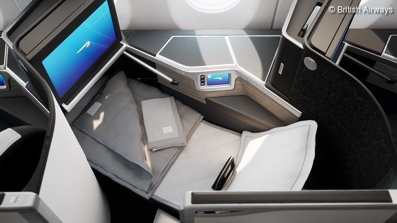 Stilvoll Reisen in der British Airways Club Suite an Bord des neuen A350